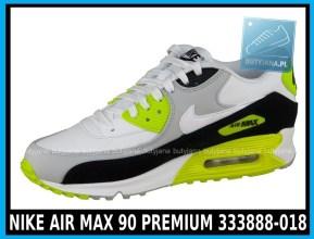 NIKE AIR MAX 90 PREMIUM 333888-018 w kolorze WHITE - GREY - YELLOW (szare, białe, żółte) w cenie 389-99 zł 1