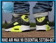 Buty Nike Air Max 90 Essential 537384-007 czarno żółte neon 5