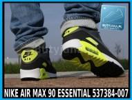 Buty Nike Air Max 90 Essential 537384-007 czarno żółte neon 6
