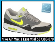 Nike Air Max 1 Essential 537383-070 Dusty Grey Volt Cool Grey Blk - cena 400 zł - airmaxsklep 1