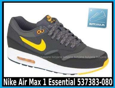 Nike Air Max 1 Essential 537383-080 DARK GREY LASER ORANGE – ANTHRACIT – BLK - cena 400 zł 1