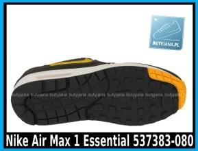 Nike Air Max 1 Essential 537383-080 DARK GREY LASER ORANGE – ANTHRACIT – BLK - cena 400 zł 4