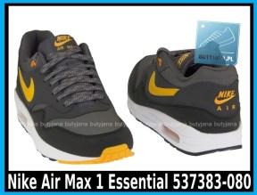 Nike Air Max 1 Essential 537383-080 DARK GREY LASER ORANGE – ANTHRACIT – BLK - cena 400 zł 5