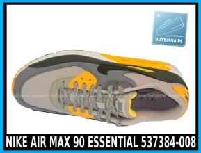 Nike Air Max 90 Essential 537384-008 Pale Grey Black Anthracit Laser Orange - cena 400 zł - airmaxsklep 3