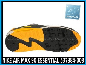 Nike Air Max 90 Essential 537384-008 Pale Grey Black Anthracit Laser Orange - cena 400 zł - airmaxsklep 4
