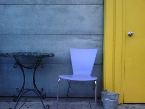 Empty Blue Chair