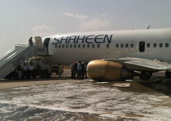 Shaheen Air Boeing 737 on runway