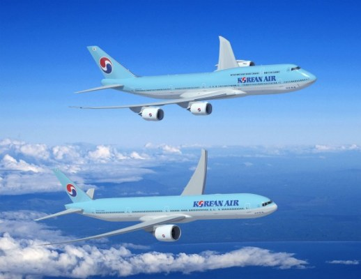 Korean Air Boeing 747-8 and 777-300ER