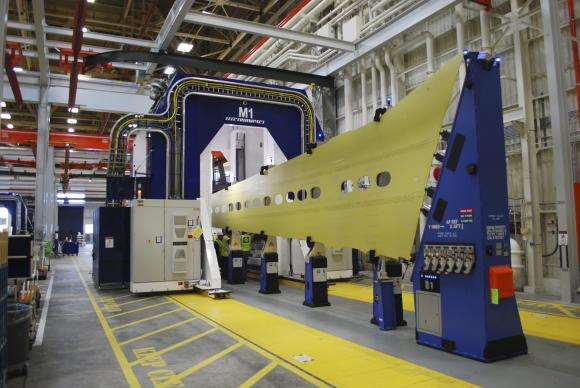 737 automated wing production