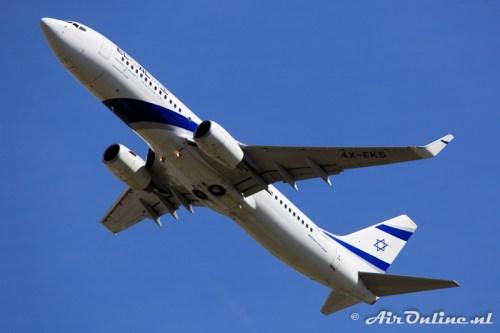4X-EKS Boeing 737-8HX(WL) El Al Israel Airlines