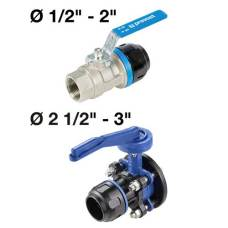PARALLEL FEMALE THREAD VALVES WITH FITTINGS FOR PIPE