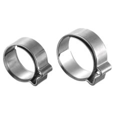 PREVOST STAINLESS STEEL - SINGLE EAR CLAMP WITH RING