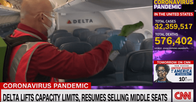 Delta Airlines Sells Middle Seats Again As Travel Increases