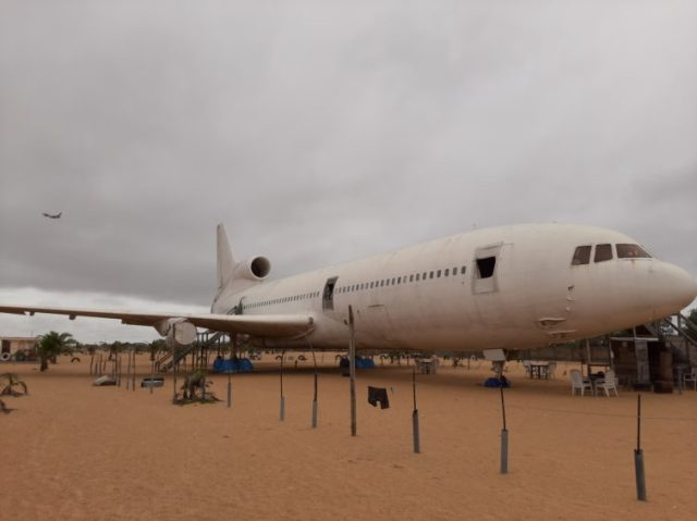 Could you imagine walking down the beach and seeing a Tristar just sitting there? Pretty awesome