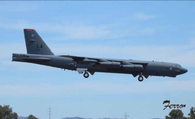 four u s b 52 bombers have just landed in spain for a bomber task force deployment 1 Airplane GEEK Four U.S. B-52 Bombers Have Just Landed In Spain For A Bomber Task Force Deployment