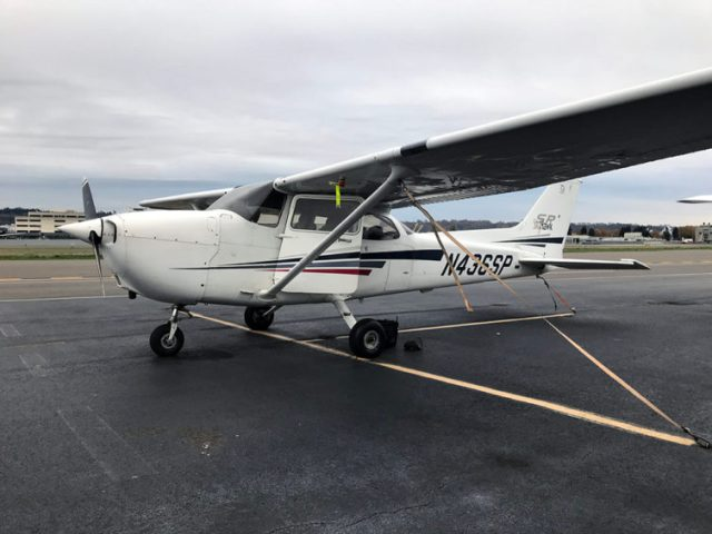 My assigned aircraft for the checkride was this fine C172SP