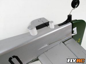 Foam dowels hold in the Horizontal Tail.