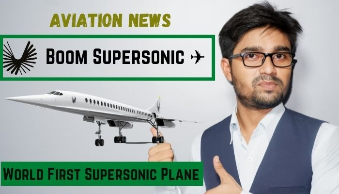 """boom supersonic introduce world first supersonic commercial jet Airplane GEEK Boom Supersonic Introduce """"World First Supersonic Commercial Jet"""""""