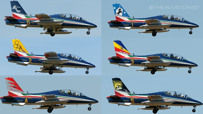 here are all the special tail liveries of the italian frecce tricolori Airplane GEEK Here Are All The Special Tail Liveries Of The Italian Frecce Tricolori