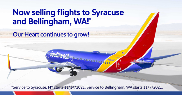 southwest announces its new schedule adds syracuse will resume all international services 1 Airplane GEEK Southwest announces its new schedule, adds Syracuse, will resume all international services