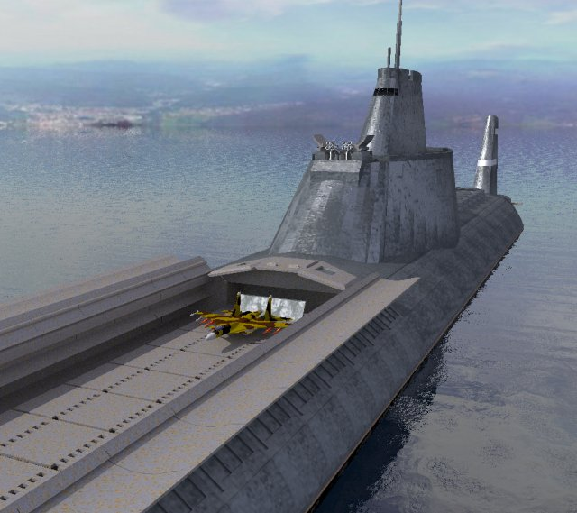 Submarine + aircraft carrier - Wicked!