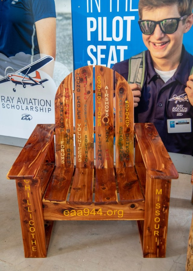 EAA Chapter 944 Custom Chair at AirVenture 2021