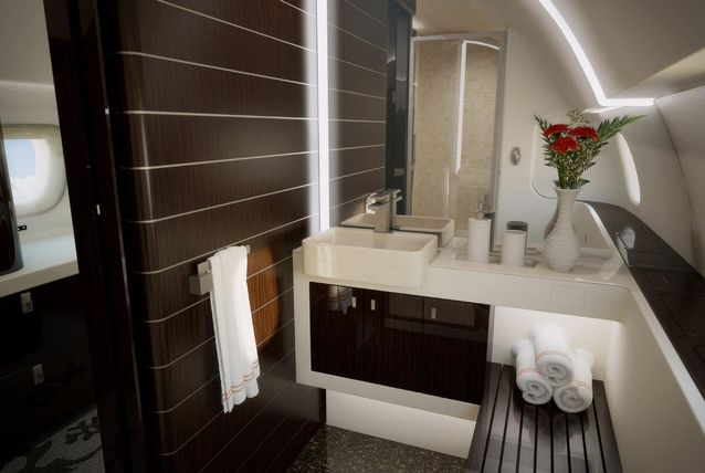 private jet bathrooms what to Airplane GEEK Private jet bathrooms – what to expect
