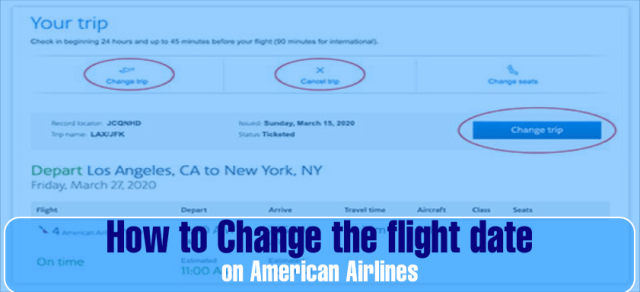 American Airlines Change Flight Date Policy & Fee: Reschedule Booking