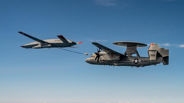 boeing mq 25 stingray tanker drone achieves another first air to air refueling with an e 2d Airplane GEEK Boeing MQ-25 Stingray Tanker Drone Achieves Another First: Air-to-Air Refueling With An E-2D