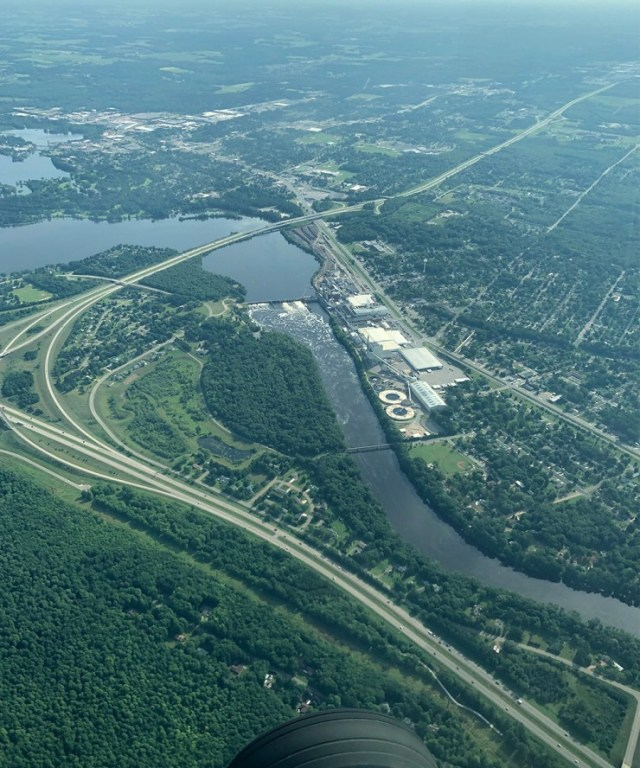 Aerial view of Eau Claire, Wisconsin