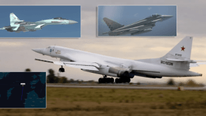 two russian tu 160 bombers escorted by flankers intercepted by italian typhoons danish f 16s over the baltic sea Airplane GEEK Two Russian Tu-160 Bombers Escorted By Flankers Intercepted By Italian Typhoons, Danish F-16s Over The Baltic Sea