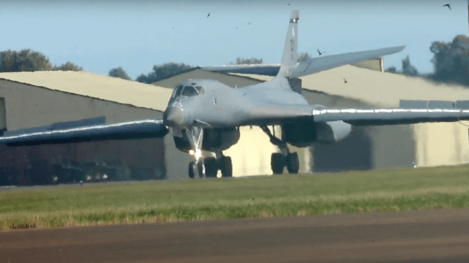 watch this amazing video of two b 1b bombers arriving at raf fairford this morning Airplane GEEK Watch This Amazing Video Of Two B-1B Bombers Arriving At RAF Fairford This Morning