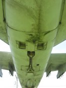 The underbelly of the plane.