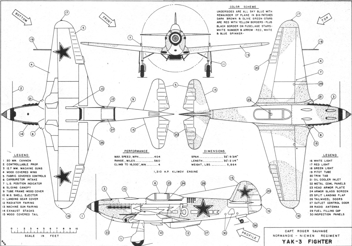 French Flown Yak 3 World War Two Fighterarticle Amp Plans