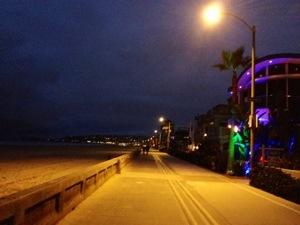 Mission beach at night