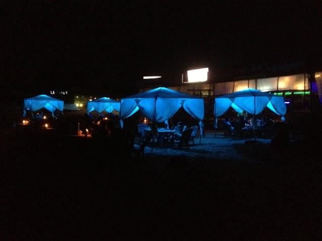 Beachside bars at night