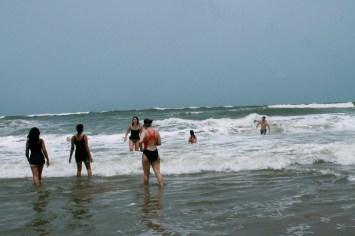 At Baga beach