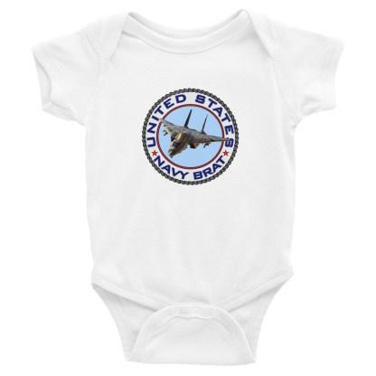 airplaneTees US Navy Brat Onesie... Rabbit Skins Infant Bodysuit 4