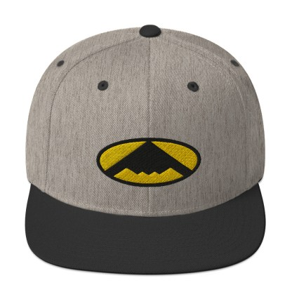 airplaneTees B2 Bomber Snapback Hat – In the style of Batman 1