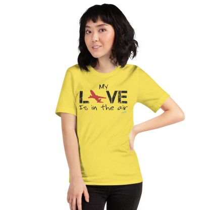 airplaneTees MY Love is in the air tee... Short-Sleeve Unisex 49