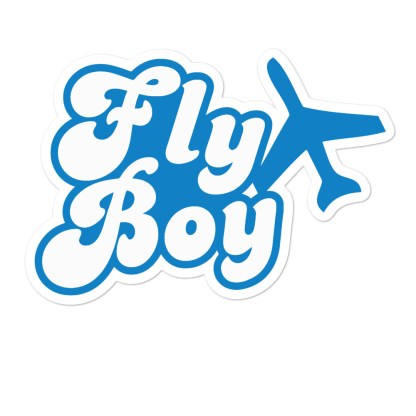 airplaneTees Fly Boy stickers... Bubble-free 3