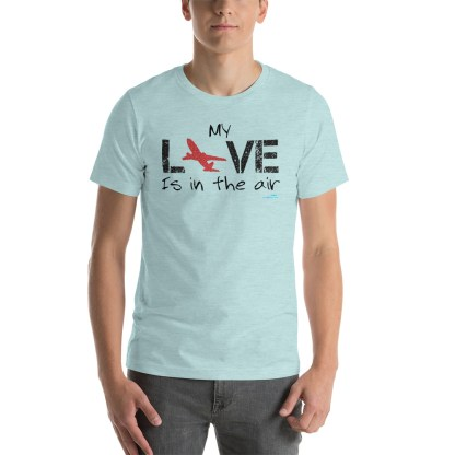 airplaneTees MY Love is in the air tee... Short-Sleeve Unisex 2
