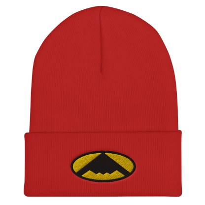 airplaneTees B2 Bomber Cuffed Beanie – In the style of Batman 7