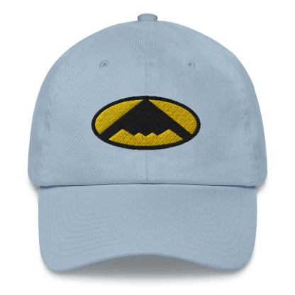 airplaneTees B2 Bomber Dad hat – In the style of Batman 7