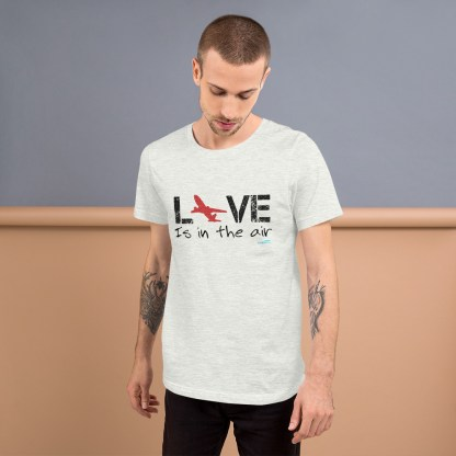 airplaneTees LOVE is in the air tee... Short-Sleeve Unisex 11