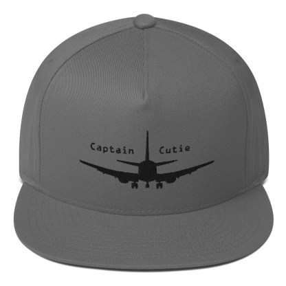 airplaneTees Captain Cutie Hat - Flat Bill Cap 1