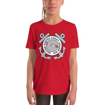 airplaneTees Coast Guard Kid- Back Printed... Youth Short Sleeve T-Shirt 2