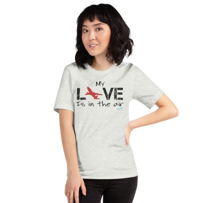 airplaneTees MY Love is in the air tee... Short-Sleeve Unisex 25