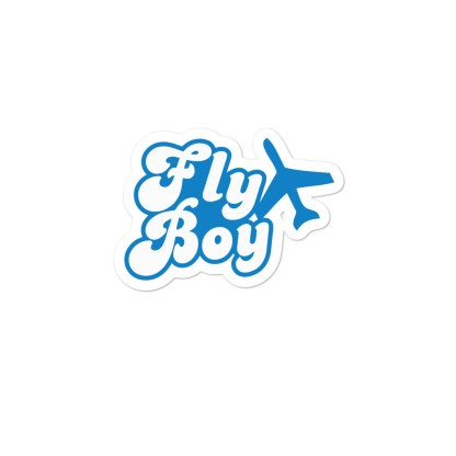 airplaneTees Fly Boy stickers... Bubble-free 2