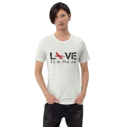 airplaneTees LOVE is in the air tee... Short-Sleeve Unisex 2